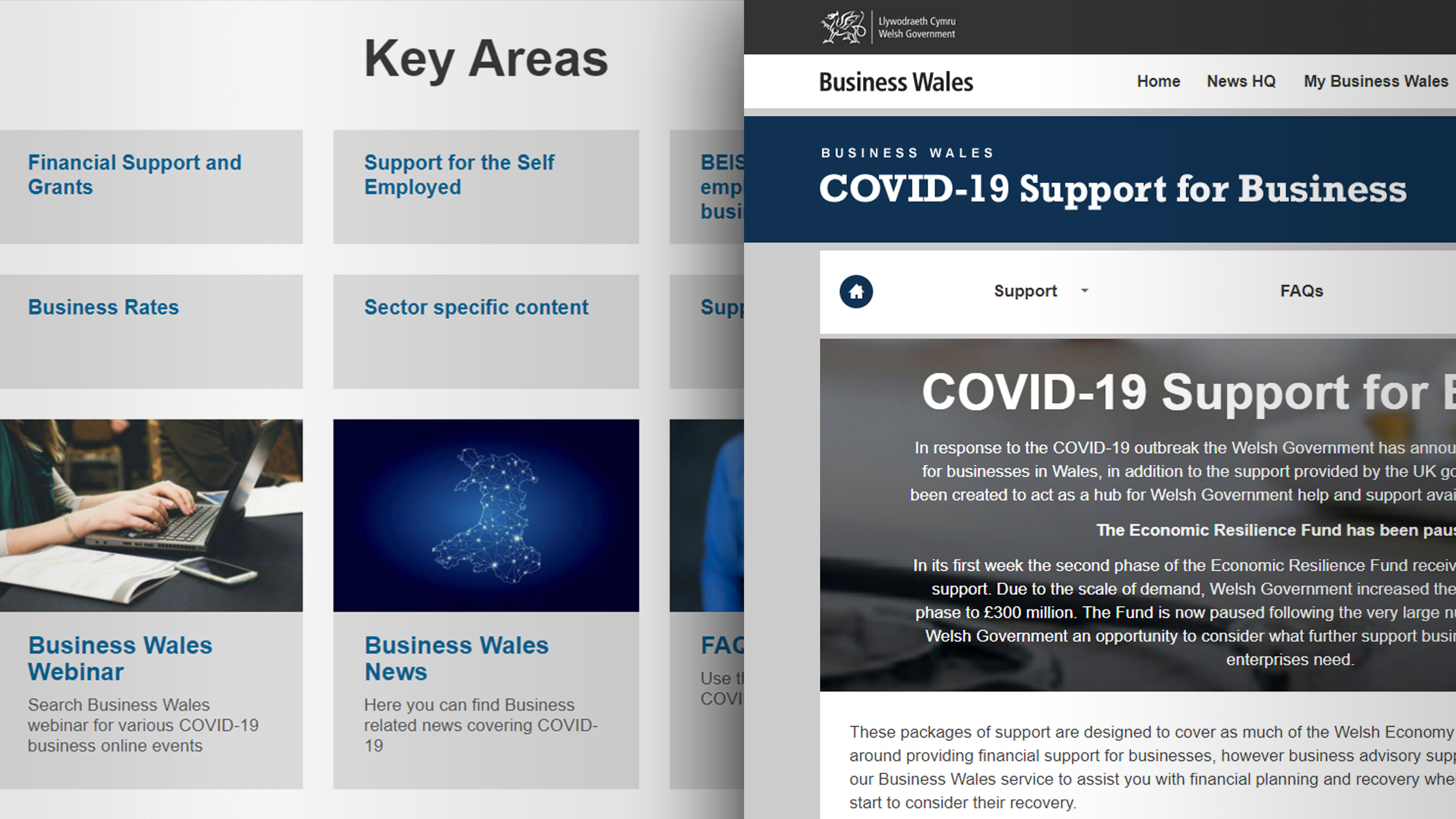 covid support Welsh Government