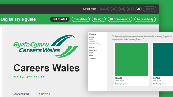 Careers Wales digital styleguide
