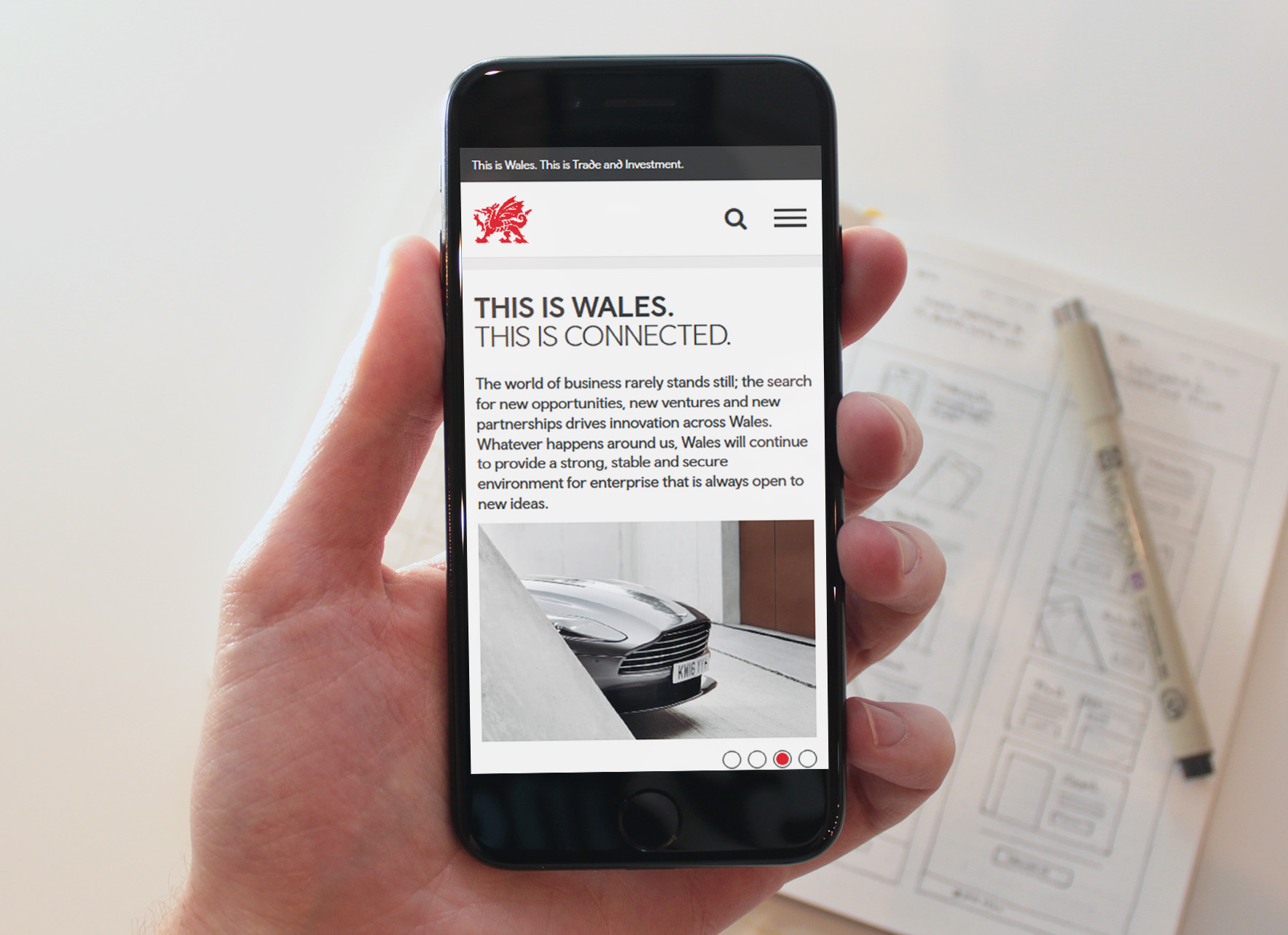 Trade and Invest Wales mobile